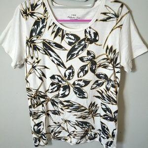 😍 3/$20! J. CREW Collector Leaf Design T-Shirt